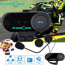 Freedconn T-COMVB Intercom Motorcycle Bluetooth Helmet Headset 800m Walkie 2Way