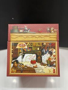 1 Charles Wysocki Cats art nesting style decorated boxes , gift boxes cat art