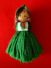 Hallmark Ornament 1975 Yarn Caroler Little Girl  Ornament