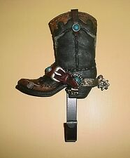 #1 - Western Cowboy Boot with Spurs ~ Wall Coat, Towel Hanger, Hook