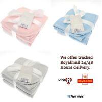 Elli & Raff 2 Pack 100% Cotton Hooded Baby Bath Towels Girl Boy Newborn Gift