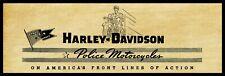 "1945 Harley Davidson Motorcycles New Metal Sign: 6"" x 18"" Long - Police Models"