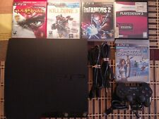 Sony PlayStation 3 PS3 Slim Console CECH-2001A 120GB 5 Game Bundle.