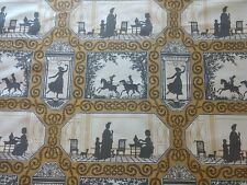 5+ yards BRAQUENIE Fabric Valsonne French Upholstery Wallcovering Silhouette