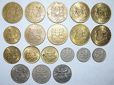 KENYA: 3 x 1 Shilling 3 x 50 Cents 69, 71, 74, 9 x 10 Cents, 4 x 5 Cents 71 & 75