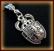 EGYPTIAN SCARAB Pendant Necklace Jewelry ART DECO Antique Vintage look Beetle