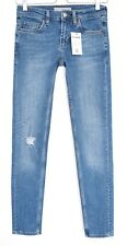 Topshop Skinny NEW BAXTER Blue Low Rise RIPPED Jeans Size 8 W26 L34