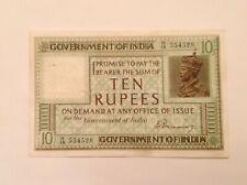 - British India Ten 10 Rupees George V 1917 Series  P 7a - H. Denning