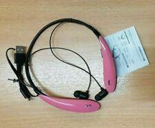 Neckband Bluetooth Earphone Headphone Wireless PINK BLACK Gym Sports Travel USB