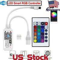 Smart Mini WiFi LED RGB Light Strip Music Controller 12v For Alexa Google Home