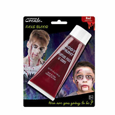 Red Face & Body Special Effects Horror Halloween 100ml Fake Blood Paint Make Up