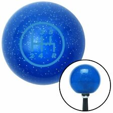 Blue 5 Speed Shift Pattern - 5RDR Blue Metal Flake Shift Knob 16mm x 1.5 Insert