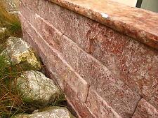 Mauersteine Trockenmauer Mauer Gartenmauer Natursteinmauer Travertin Rot  Muster