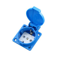 250V 16A Single EU Plug Wall Socket Standard Power Waterproof B-013 Outlet Safe