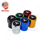 Hex Mercedes-benz Emblem Car Wheels Tire Air Valve Caps Stem Dust Cover Sport