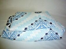"Pine Cone Hill ""Spring Basket"" Twin Duvet Cover set, Blue Navy 100% Cotton, New"