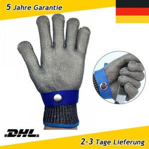 DE Stechschutzhandschuhe Kettenhandschuh Sicherheits-Handschuh Einzeln Metzger