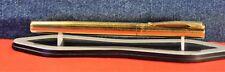 """Waterman""  TORSADE  OR G  PLAQUE> Fountain pen 18k-750 Gold nib c.1970's"