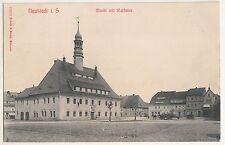 Ak Neustadt in Sachsen Markt mit Rathaus Brück & Sohn 10259 * 1912 (A1684