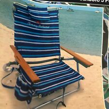Tommy Bahama 5 Way Position Beach Chair Bottle Opener Insulated Beverage Holder