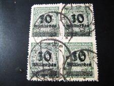 DEUTSCHES REICH Mi. #336B scarce used stamp block of 4! CV $240.00