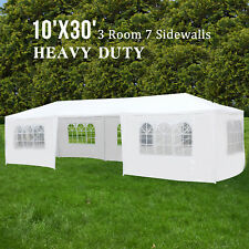 10'x30' Outdoor Party Wedding Tent with 7 Walls Canopy Gazebo Pavilion Cater