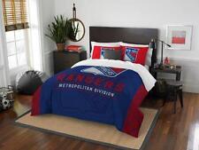 New York Rangers - 3 Pc FULL / QUEEN SIZE Printed Comforter / Sham Set