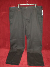 NWT - IZOD Men's American Chino Flat Front Straight-Fit Pants - Black - 40 x 32