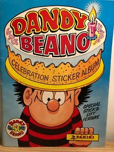 Beano Dandy 50th Celebration Sticker Album COMPLETED
