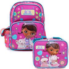 """Doc Mcstuffins Large School Backpack 16"""" Book Bag Lunch Bag Set-Healing Hands"""