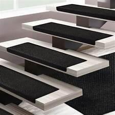 Lot de 15 Tapis marche escalier fibre naturelle gris foncé 65 x 23 + 4 cm (GLS)