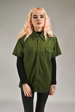 Vintage LEE Forest Green Denim Shirt (M)