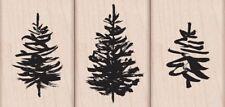 PAINTBRUSH TREES Rubber Stamp Set LP417 Hero Arts 3 pc set Brand NEW!