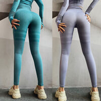 Damen Push Up Leggins Jogginghose Sports Gym Leggings Yoga Hose Ruched Gym Hosen