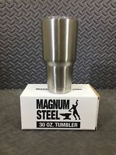 Magnum Steel 30oz Stainless Steel Double Walled Vacuum Sealed Tumbler