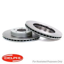 Genuine Delphi Front Vented Coated Brake Discs Set Pair - BG3702C