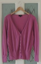 NEXT Rose Pink V Neck Buttoned Maternity Long Sleeve Cardigan Size 18 BNWOT