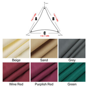Toldo de Vela Sombrilla Parasol Rectángulo Triángulo Tejido de Poliester Jardín