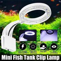 12LED Mini Aquarium Fish Tank Lamp Clip on Plant Grow Fish Tank Lighting 10000K