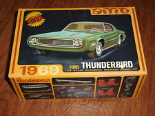 Vintage AMT 1969 Ford Thunderbird detailed model kit #Y901