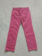WOMANS M&S COLLECTION PINK FINE CORDUROY STRAIGHT LEG ZIP FLY JEANS SIZE 12 S