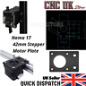 Nema 17 42mm Stepper Motor Mount Bracket Plate CNC 3D Printer UK seller