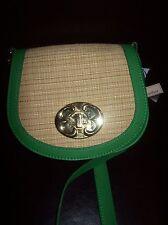 EMMA FOX SPRING GREEN NEW PORT FLAP CROSSBODY Leather Bag Handbag Purse NWT
