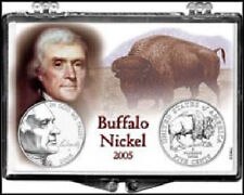 2005 Buffalo Nickel 2x3 Snap Lock Coin Holder Display, 3 pack