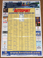 Autosport 2001 INTERNATIONAL RACING CALENDAR - F1 F3000 Sports Touring Cars F3