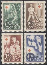 Finland 1945 Red Cross/Medical/Health/Child 4v (n25683)