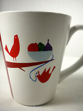 Starbucks 2011 Christmas Holiday Mug Cup Partridge Bird Tree Ornaments 12 oz