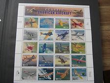 United States Scott  3142 Classic American Aircraft MNH Sheet of 20 32 cent