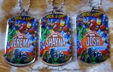 Super hero personalized metal dog tag necklace
