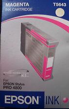 Epson Tintenpatrone T5643 C13T564300 magenta rot für Stylus pro 4800  <